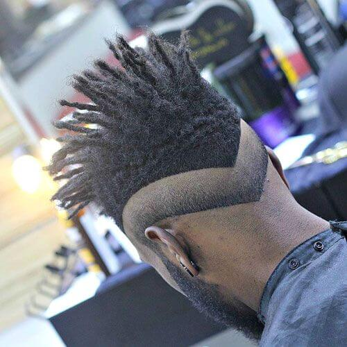 Double V Haircuts with Reverse Fade
