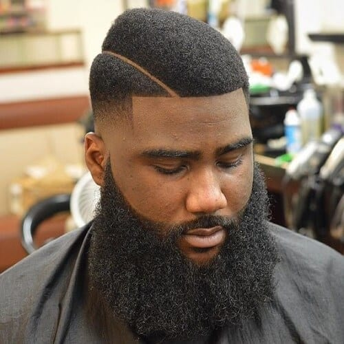 Unique Black Hairstyles with Beards
