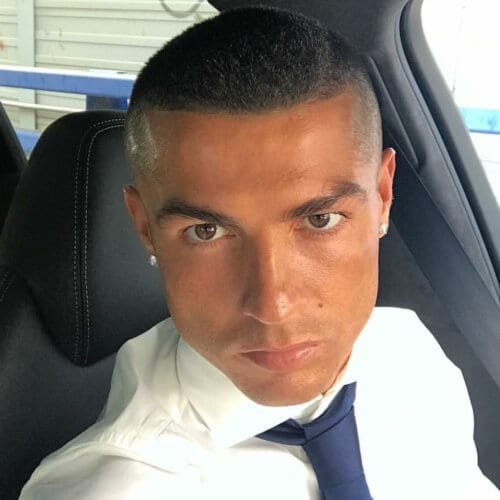 Buzz Cut Cristiano Ronaldo Hairstyles
