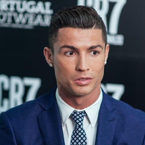 Ronaldo Discrete Shaved Line Hairstyles