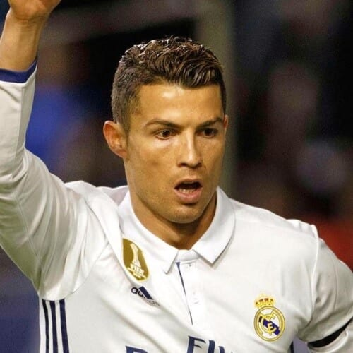 Ronaldo with Ivy League Hairstyles