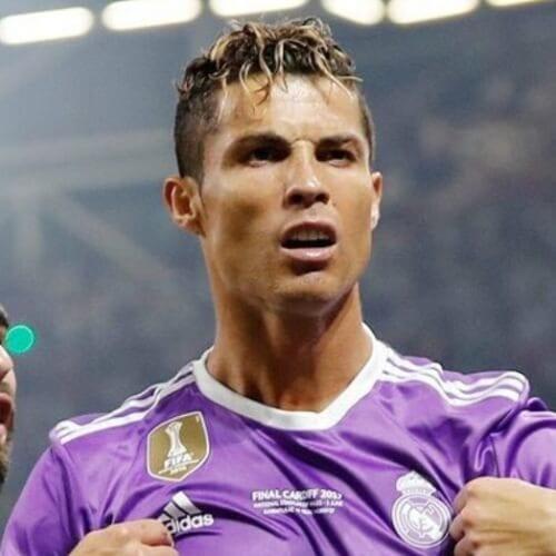 Messy Cristiano Ronaldo Hairstyles