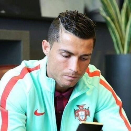 Ronaldo Shaved Gap Hairstyles