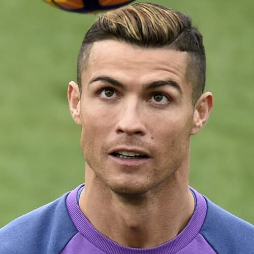 Two Tone Cristiano Ronaldo Hairstyles