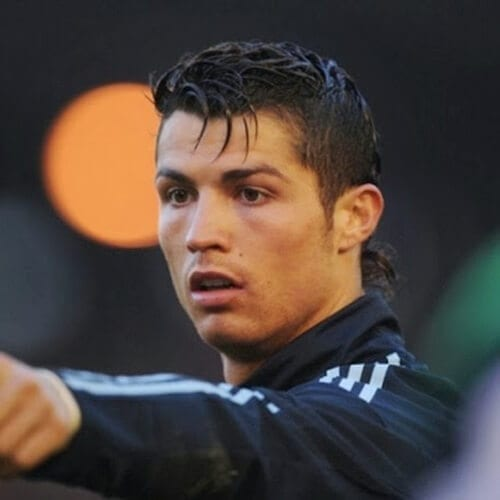 Cristiano Ronaldo with Wispy Bangs
