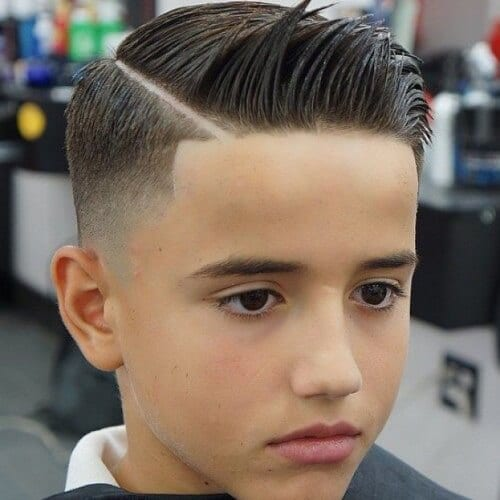 Hard Part Hairstyles for Teenage Guys