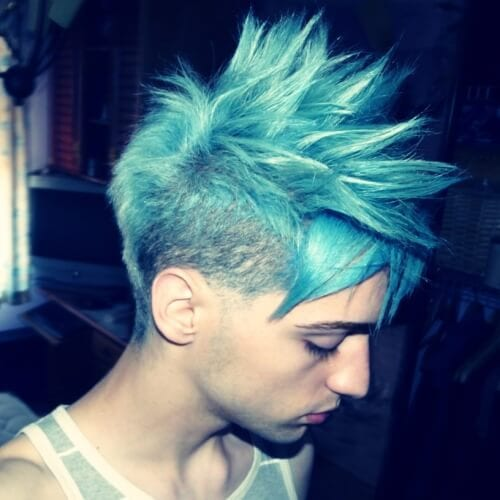 light blue punk-hairstyles-for-guys