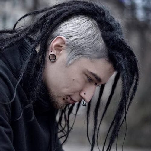 Punk Hairstyles for Guys with Dreadlocks