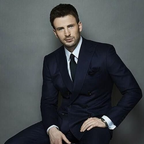 chris evans business hairstyles