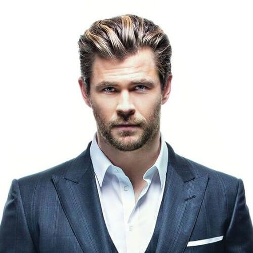 chris hemsworth business hairstyles