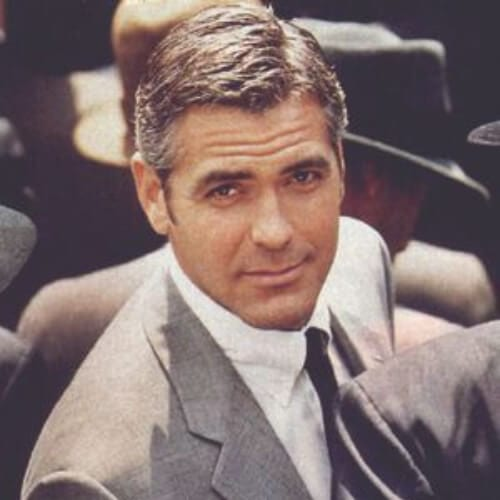 george clooney business hairstyles