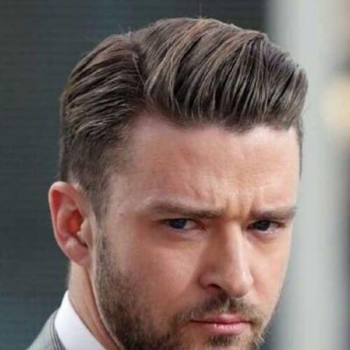 justin timberlake business hairstyles