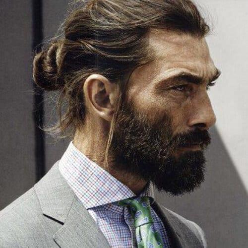 man bun business hairstyles