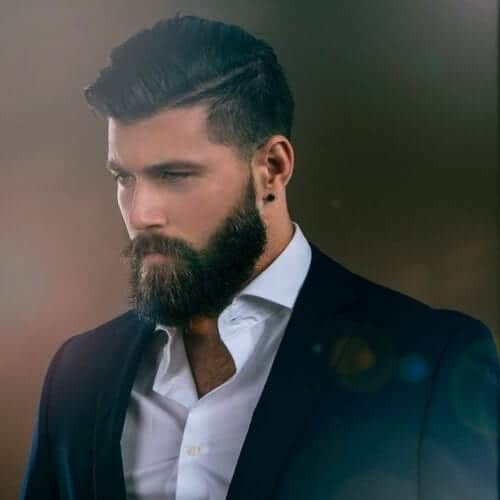 parted beard business hairstyles