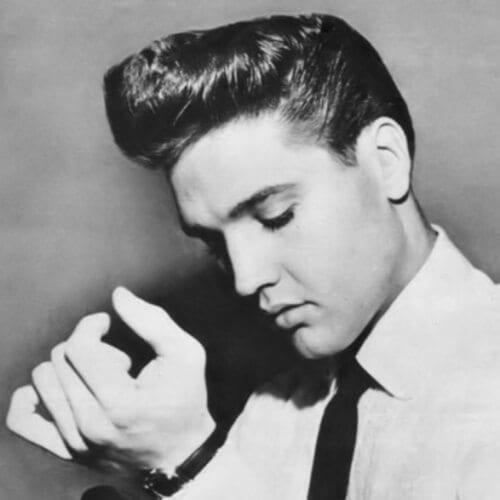 Elvis like Pompadour Haircut