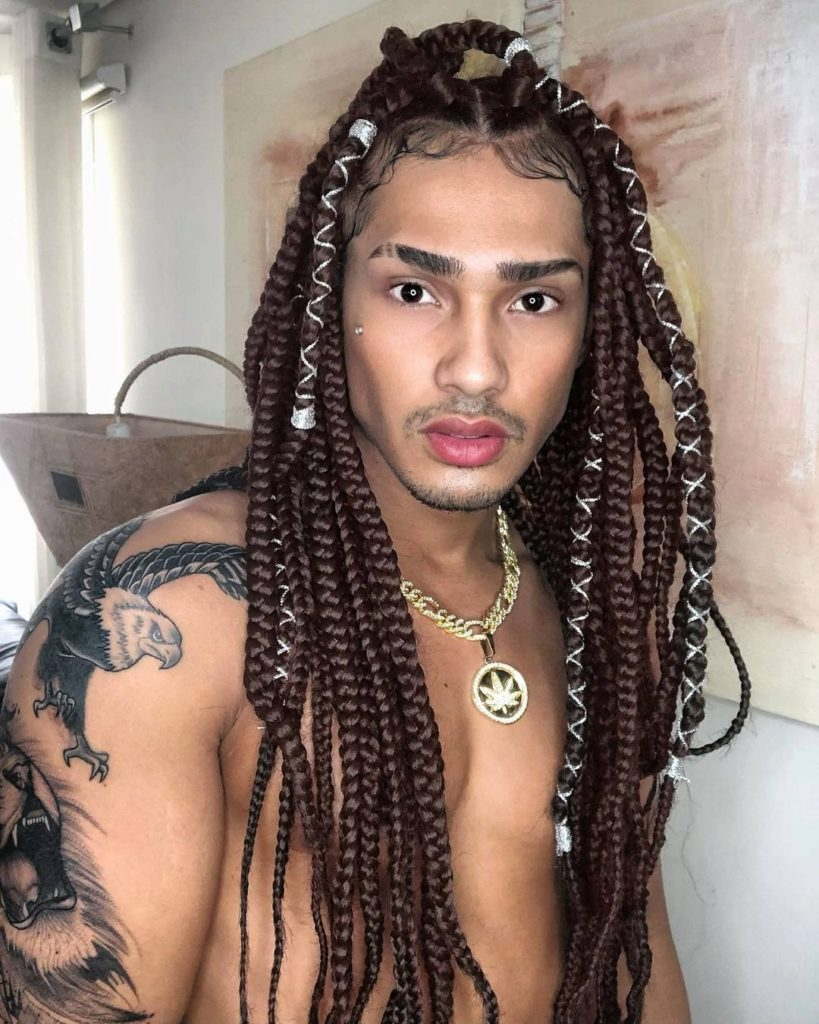 Thick Cornrows With Hair Strings