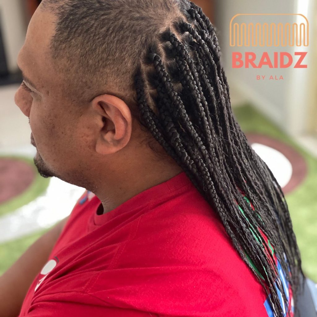 brided shoulder length hair mullet