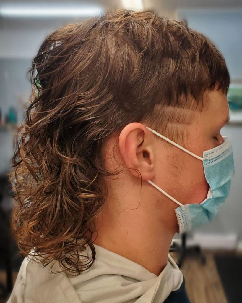 wavy shoulder length hair mullet