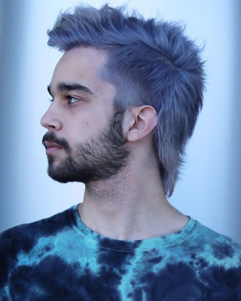 shoulder length hair silver mullet