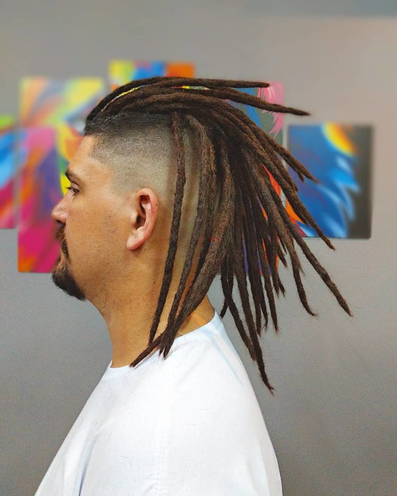 medium long hairstyles for men with dreadlocks