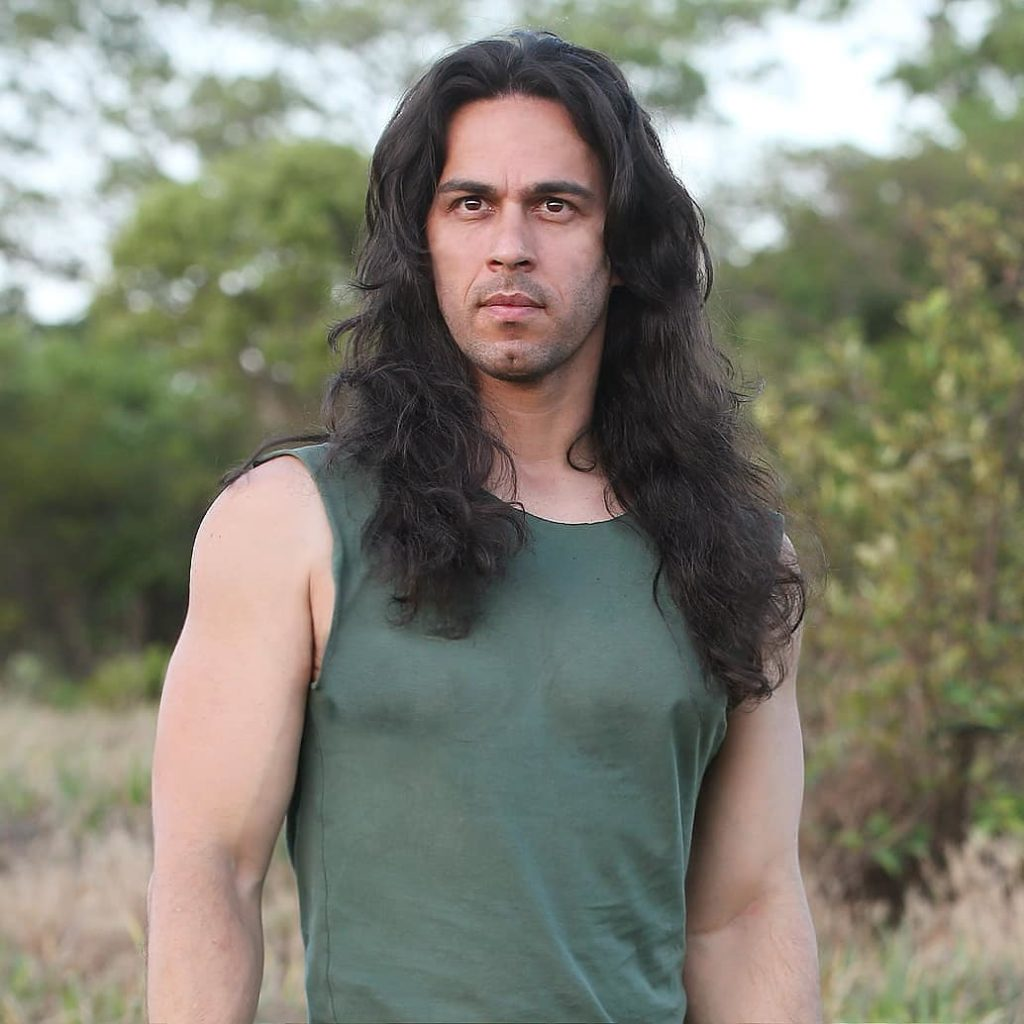 Lengthened Wild Curls For Men