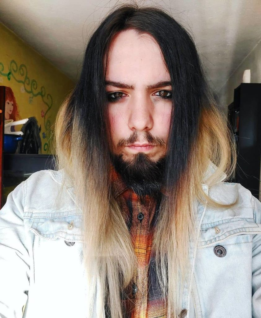 ombre medium long hairstyles for men
