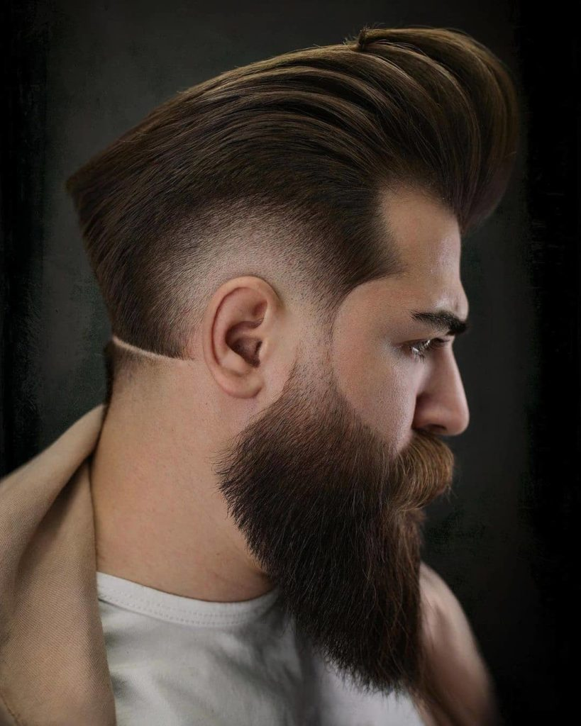 pompadour hair designs