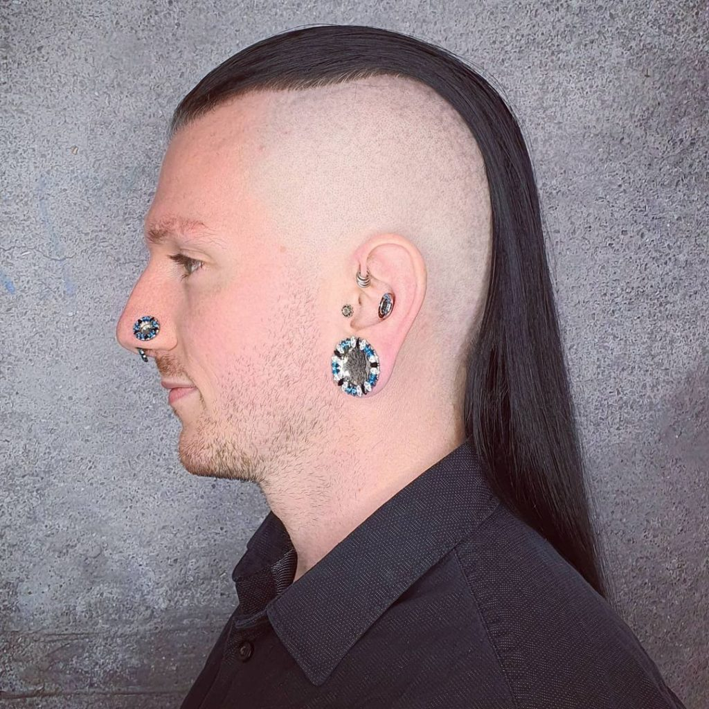 Extra Long Slicked Back Top With Disconnected Undercut