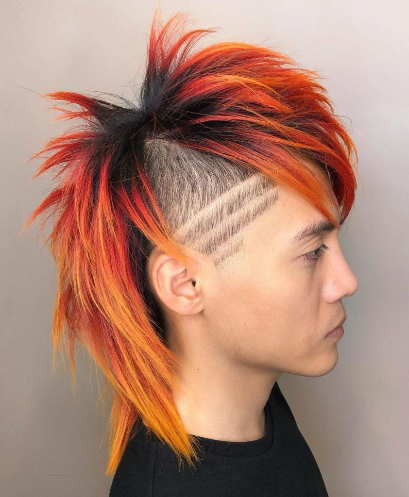 shoulder length hair asian mullet