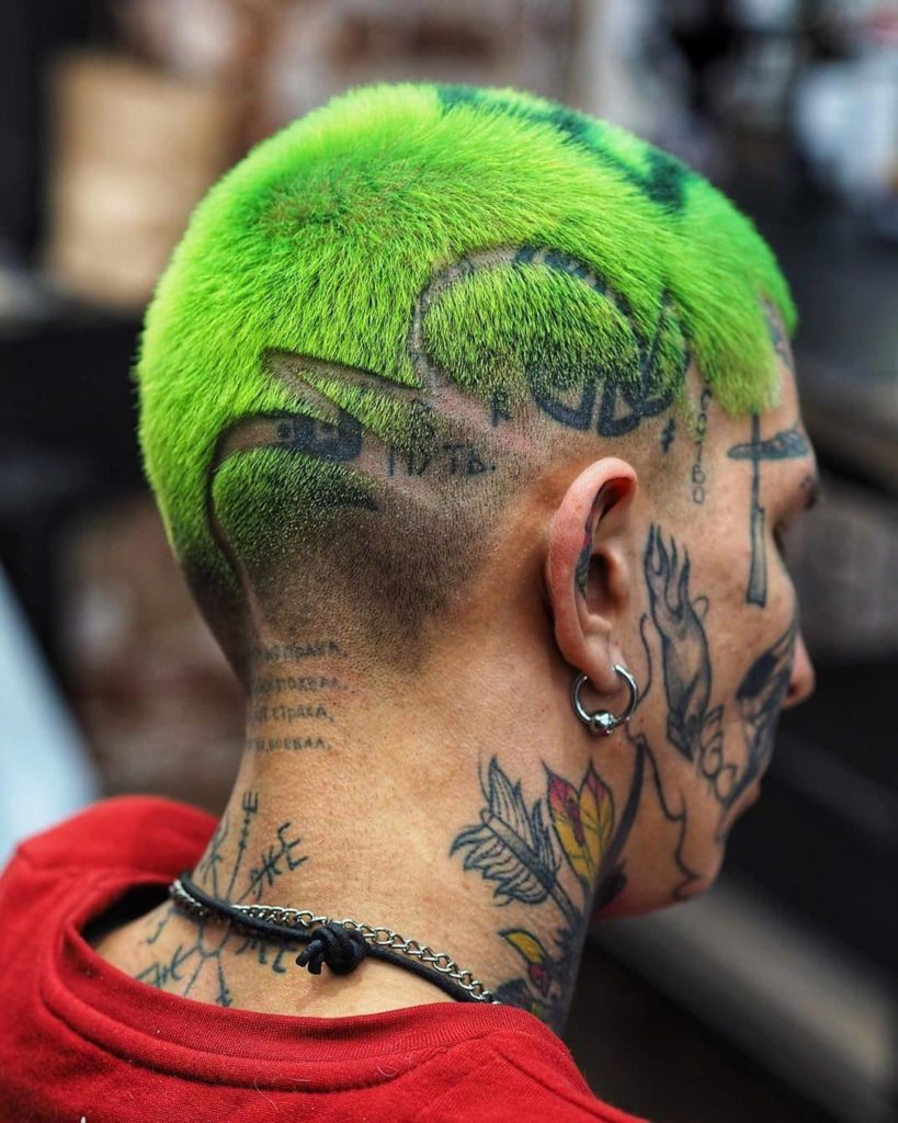 green hair designs