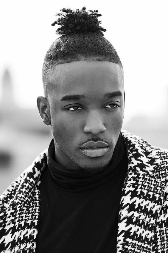high hairstyles for black men