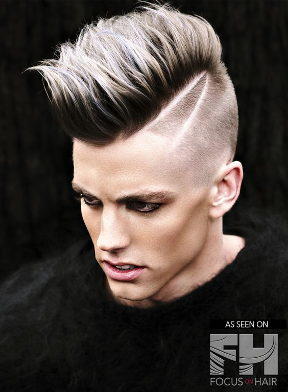 punk-hairstyles-for-guys - the ombre faux hawk
