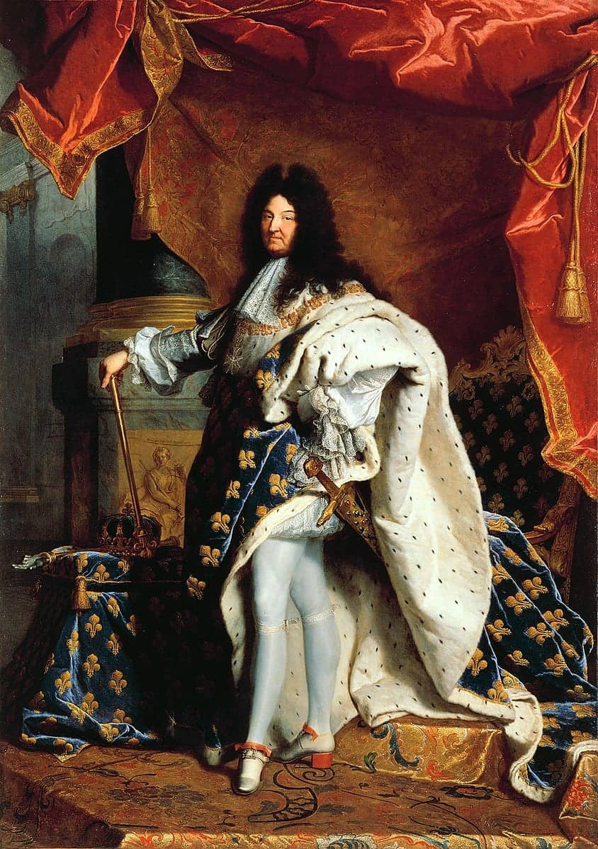 painting of Louis XIV by Hyacinthe Rigaud