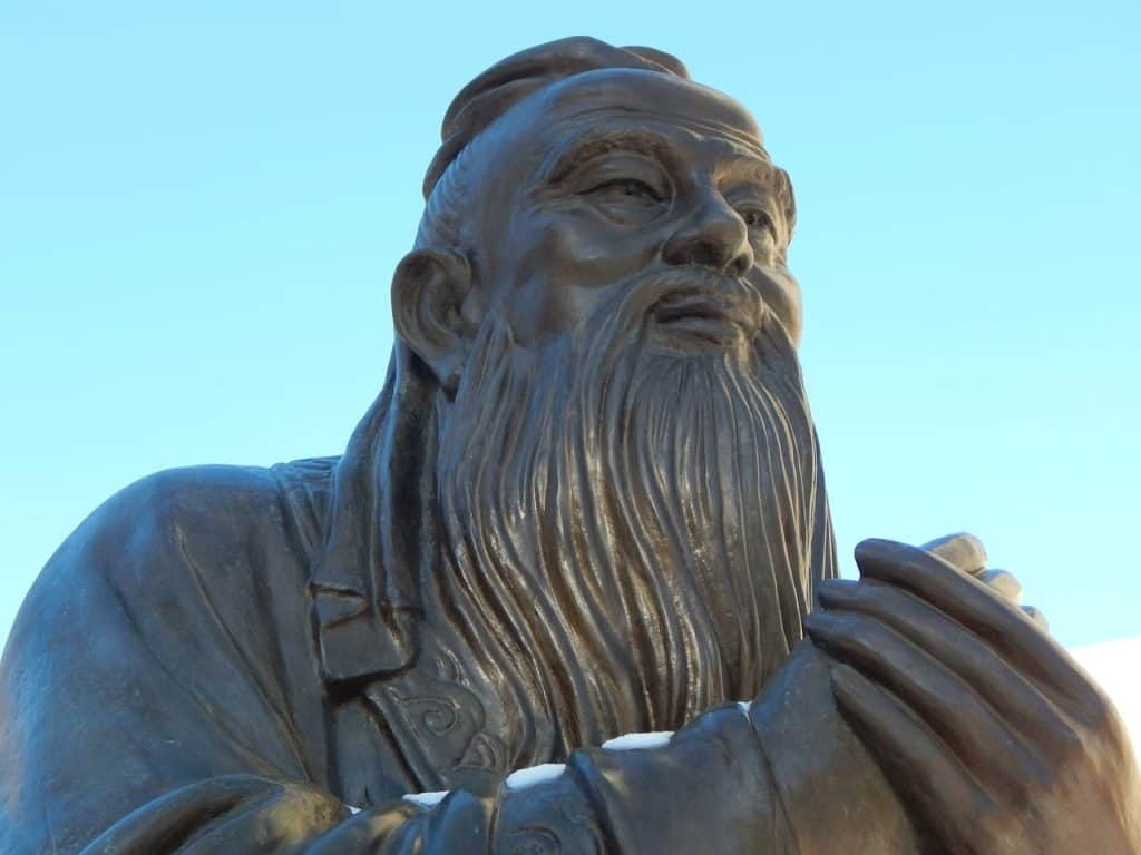 Chinese philosopher, had a typical Ancient Chinese male hairstyle